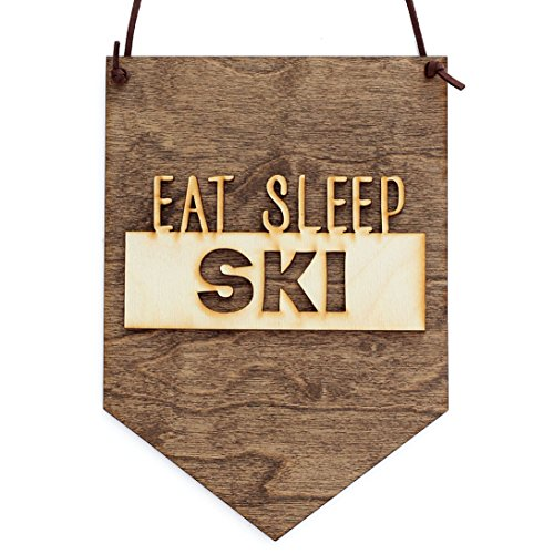 Eat Sleep Ski Wood Sign (Water Ski Wood Sign)