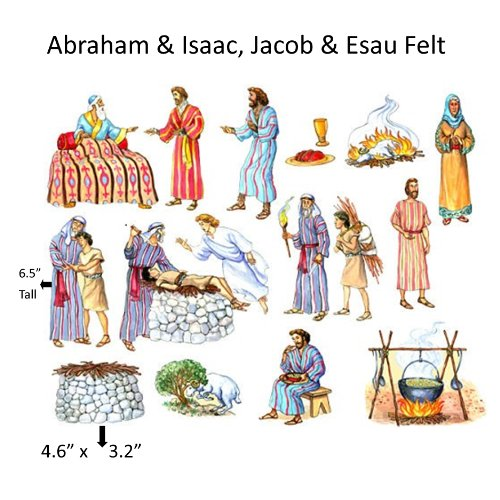 (Abraham & Isaac Felt Figures for Flannel Board Bible Stories-precut)