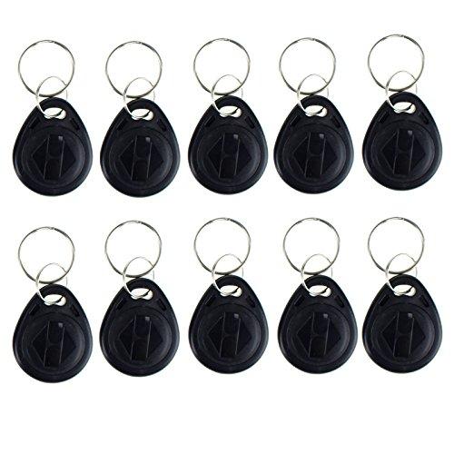 OBO HANDS 20pcs 125 KHz EM4100 Proximity ID RFID Smart Tags Access Control Smart Card Keyfobs Key Card (Black)
