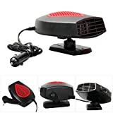 TSXGJ Portable Car Heater 30 Seconds Fast Heating 12V 150W Heater Cooling Fan 3-Outlet Auto Heater Serves, Help Defrosts the Windshield and Keep Your Car Warm