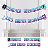 Big Dot of Happiness Personalized Must Dance to the Beat - Dance - Custom Dance Party Bunting Banner & Decorations - Dance Custom Banner