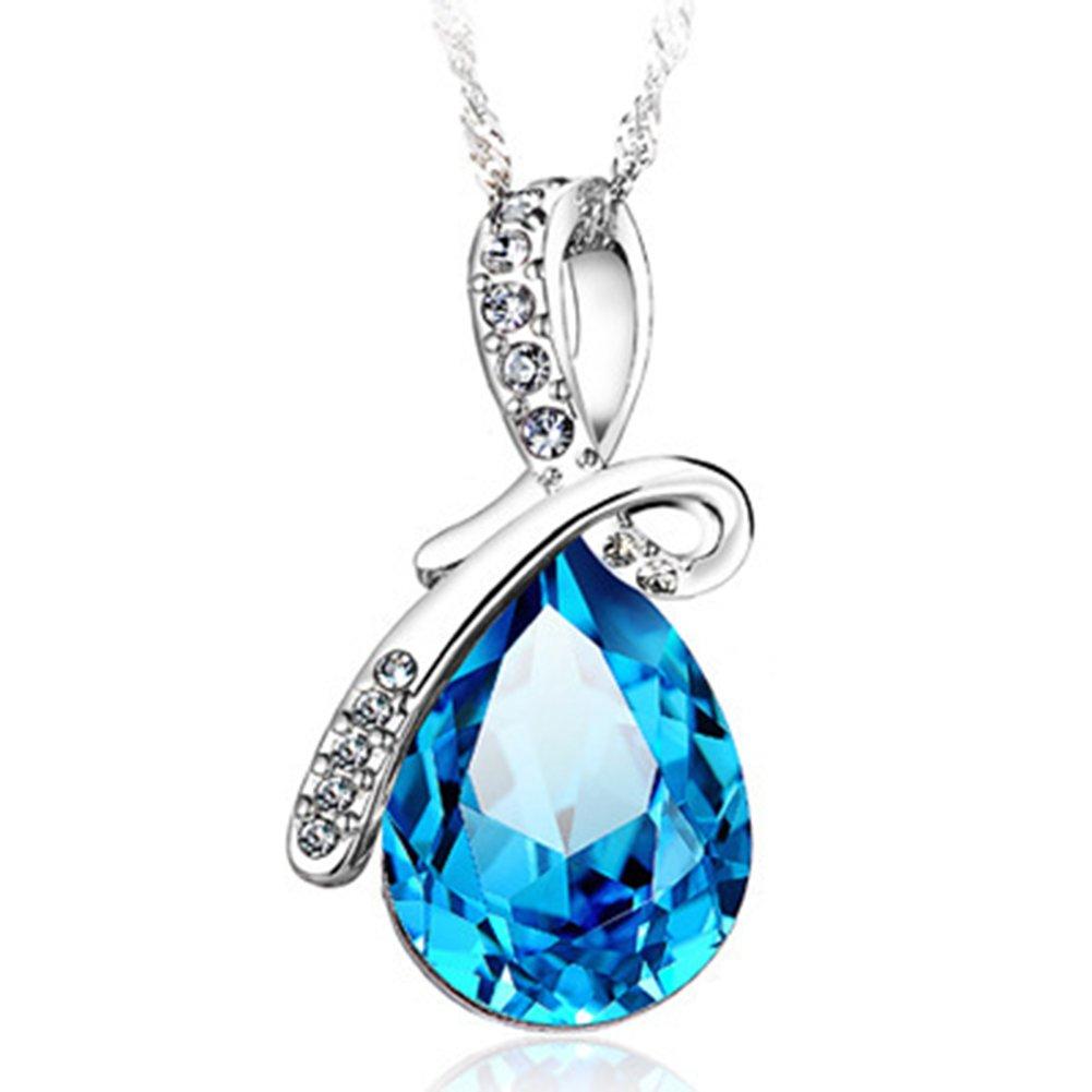925 Sterling Silver Cubic Zirconia Necklaces /& Pendants AmaranTeen