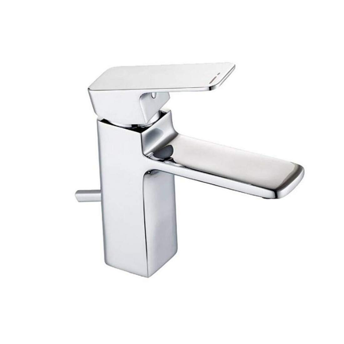 Hot and Cold Vintage Brass Bathroom Kitchen Bathroom Taps Single-Hole Basin Faucet Hot Water Table Top Basin Washbasin Faucet