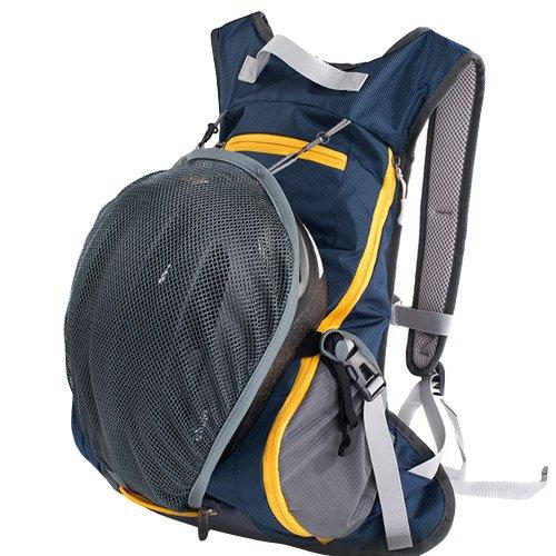 Fahrradrucksack Reit Reisen Sport Bergsteigen Doppelt Schultern Rucksack Tasche (Dunkelblau)