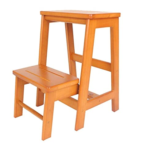 Fabulous Amazon Com Yjlgryf Step Stool All Solid Wood Three Story Pabps2019 Chair Design Images Pabps2019Com