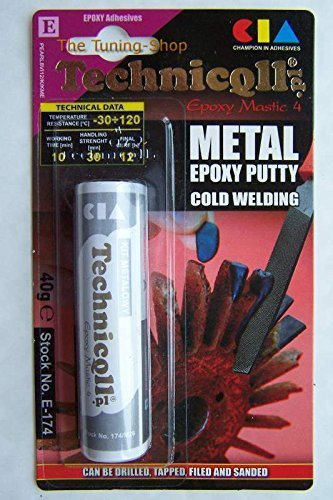 "Technicqll Epoxy Putty For Metals (Steel, Aluminium, Bronze, Iron Casts, Etc) ""Cold Weld"" 40G"