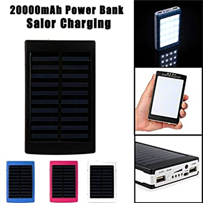 Mchoice 20000mAh LED Dual USB Portable Solar Battery Charger Power Bank for Cell Phone