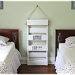 Pallet Wood White Bookshelf Kids Wooden Bookshelves Book Shelf Custom