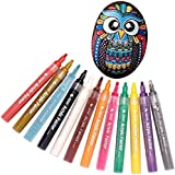 YJYdada Acrylic Paint Pen for Ceramic Painting Permanent Acrylic Marker Painting Pens