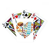 Italy Roman Theater Heart Poker Playing Cards Tabletop Game Gift