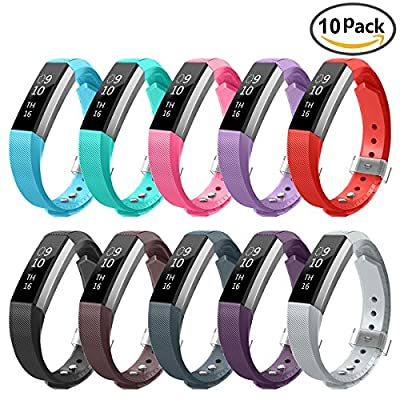 AIUNIT Fitbit Alta Bands, Fitbit Alta and Alta HR Classic Replacement Accessory Band Bracelet Watch Strap Wristband W/ Fastener&Metal Clasp Large Small Women Men Boys Girls(Newest, No Tracker)
