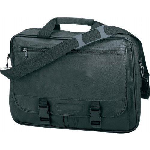 en similicuir extensible Sales Executive Briefcase- Noir Superdeals Store