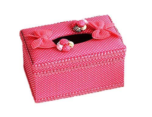 Elegant Voile Lace&Fabric Tissue Holder Tissue Box Cover(Short) - Elegant Voile Lace&Fabric Tissue Holder Tissue Box Cover(Short) - Voile Cover