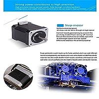 3D Printers, ZR Printing (Black) Personal Portable Dual Extruder Desktop Rapid Prototyping 3D Models 3D Printer Kits 3D Printer Including 1x 1.75mm ABS/PLA Filament (FDM) by ADA