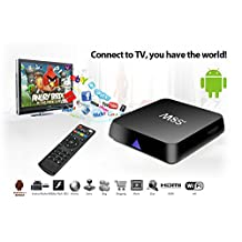 R&T Android Box M8S Plus TV Box Android 6.0 with Amlogic S905X Quad Core 1 GB RAM 8 GB ROM Smart Box Supports 4K HD H.265 and VP9 Decoding