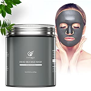 Dead Sea Mud Mask, Tansmile Natural Dead Sea Mud Clay Mask Detoxify Exfoliate Deep Cleansing Facial Mask Skin Cleanser Face Treatment Minimize Pores, Acne, Blackheads, Oily Skin, and Body Spa (8.8oz)