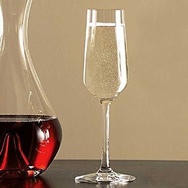 Stolzle Revolution Sparkling Flute Champagne Glasses, Set of 6