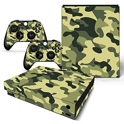 ModFreakz™ Console/Controller Vinyl Skin Set - Light Woodland Camo for Xbox One X (One Woodlands Light)