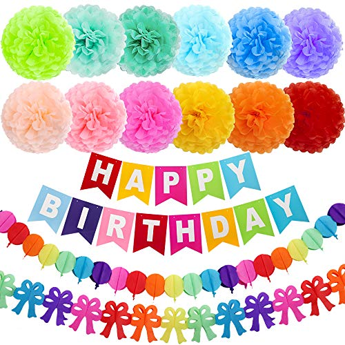 Kids Birthday Party Decoration - ZJHAI 15pcs 10