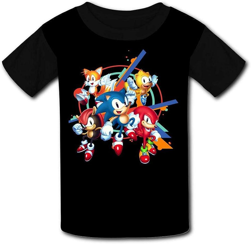 Man-ia Short Sleeve Sports Sweat Tee for Teen Kids Boys Girls RETHYJU Black Raglan T-Shirts Son-ic