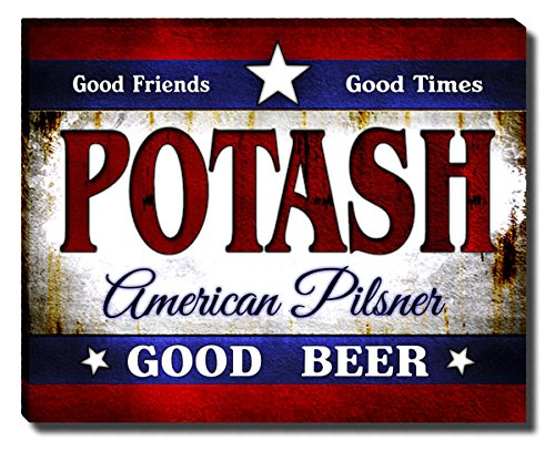 Zuwee Potashs American Pilsner Gallery Wrapped Canvas Print