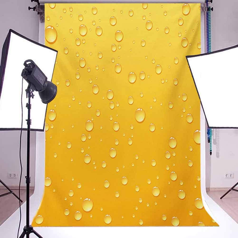 Yellow 10x15 FT Photo Backdrops,Yellow Ombre Background Like Beer in a Glass with Water Drops Graphic Artwork Prints Background for Baby Shower Bridal Wedding Studio Photography Pictures Yellow