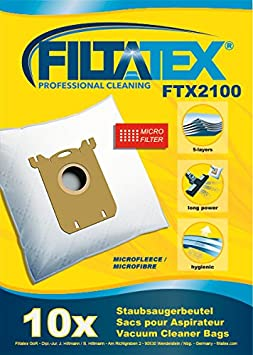 10 x FILTATEX sacs aspirateur Electrolux MCY2 ergospace
