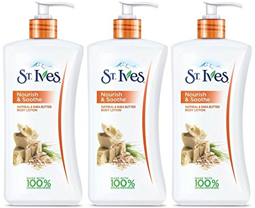 St Ives Body Lotion, Naturally Soothing, Oatmeal & Shea Butt