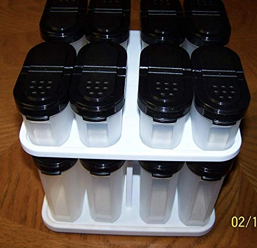 (Tupperware Spice Shakers with Carousel Set Black 16 pcs)