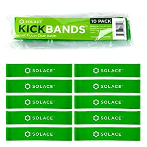 Kick Bands Bouncy Chair Bands for Kids - Alternative Flexible Seating Classroom Supplies for Elementary School - ADHD Sensory Fidgets for Classroom Chairs - Bounce Fidget Band by Solace (10-Pack)