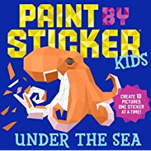 Paint By Sticker Kids Under The Sea Create 10 Pictures One At A