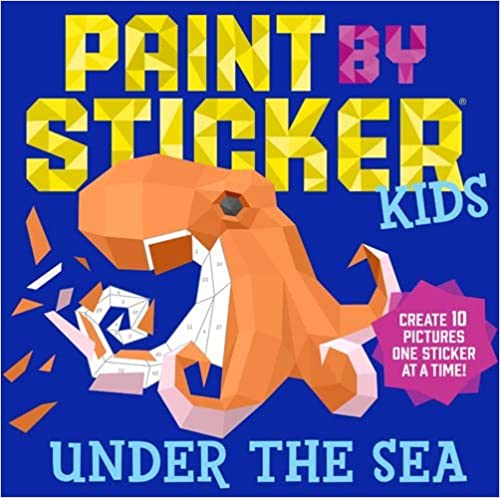 The Paint by Sticker Kids: Under the Sea travel product recommended by Nicole Ratner on Lifney.