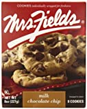 Mrs. Fields Milk Chocolate Chip Cookies, 8 Ounce