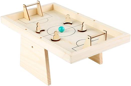 TOYANDONA Mesa de Madera Juego de Mesa Juguetes Interactivos Juguetes de Futbolín: Amazon.es: Hogar