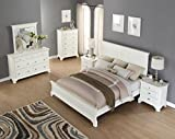 Roundhill Furniture White Bedroom Furniture Set