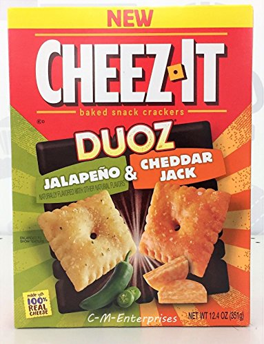 New Cheez-It Duoz Jalapeno & cheddar Jack Baked Snack Crackers 12.4 oz ( 2 Pack)