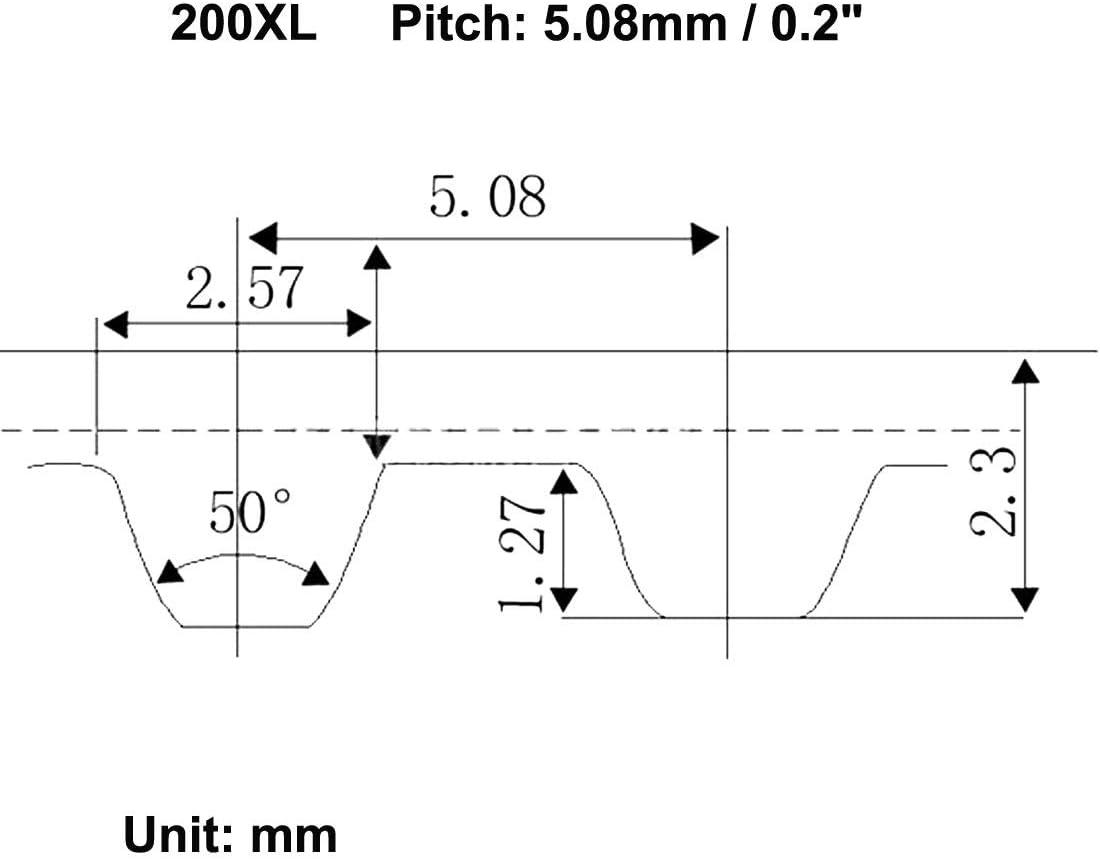 sourcing map 200XL Courroie synchronisation en caoutchouc boucle ferm/ée synchrone 100 dents 508mm