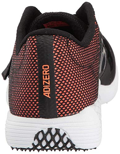 adidas Adizero tj/pv Running Shoe core Black, FTWR White, Orange 14.5 M US by adidas (Image #3)