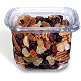 Placon EV1-16, 16 Oz Evolutions Tamper-Resistant Clear Square Deli PET Base with Lid, Take Out Disposable Catering Food Containers with Matching Lids (50)