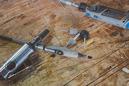 "Kutzall Original Flame Rotary Burr, 1/8"" Shaft, Coarse - Woodworking Attachment for Dremel, Foredom, DeWalt, Milwaukee. Abrasive Tungsten Carbide, 1/4"" (6.3mm) Dia. X 1/2"" (12.7mm) Length, FL-14-E"