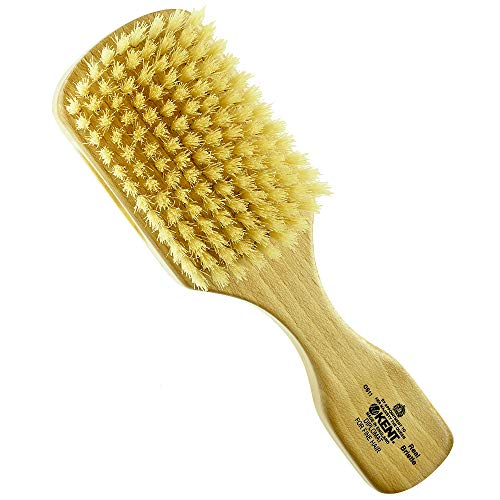 Kent OS11 Dual Timber Rectangular Club Hair Brush. Beautiful Satin and Beech Wood Base
