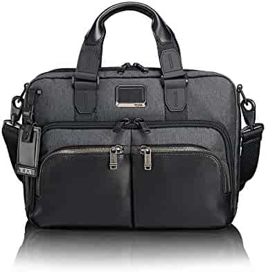 TUMI - Alpha Bravo Albany Laptop Slim Commuter Brief Briefcase - 14 Inch Computer Bag for Men and Women - Anthracite
