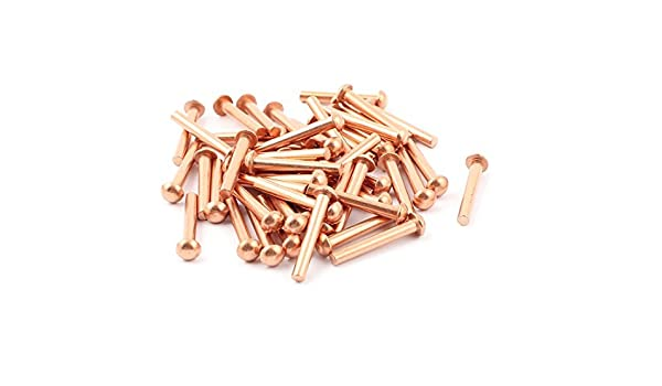 eDealMax 50 PC 1/8 x 25/32 Redonda cabeza de Los remaches de cobre sólido sujetadores: Amazon.com: Industrial & Scientific