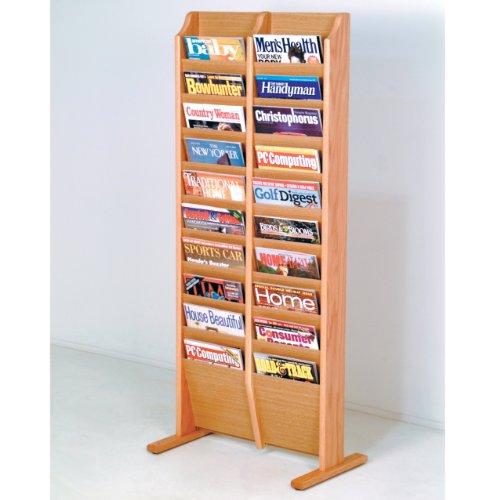 (FixtureDisplays Cascade Free Standing 20 Pocket Magazine Rack 104406)