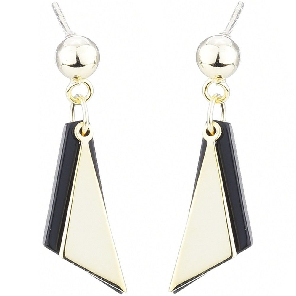Ling Studs Earrings Hypoallergenic Cartilage Ear Piercing Simple Fashion Earrings Ear Jewelry Geometric Triangle Short, Gold