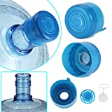 reusable 5 gallon water jugs - 5PCS 55mm 3 and 5 Gallon Non-Spill Caps,Replacement Water Bottle Snap On Cap Anti Splash Peel 5 Piece