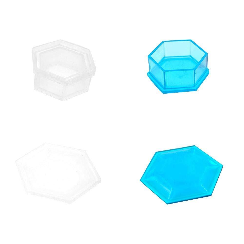 bo/îte de rangement succulente pour pots de fleurs et pots avec couvercle Moule en silicone Color : -, Size : A bleu moule en silicone mini cercueil