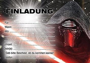 Schön 10 Einladungen Zum Kindergeburtstag Star Wars In German