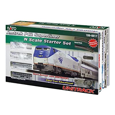 Kato USA Model Train Products N Amtrak P42 Superliner Phase IVb Starter Set: Toys & Games