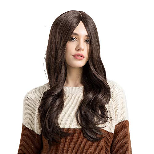 Curly Long Wig | Inkach Womens Middle Part